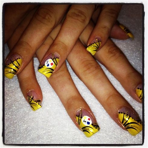 Steelers nails3 pinterest football nails nail art steelers by from nail art gallery prinsesfo Choice Image