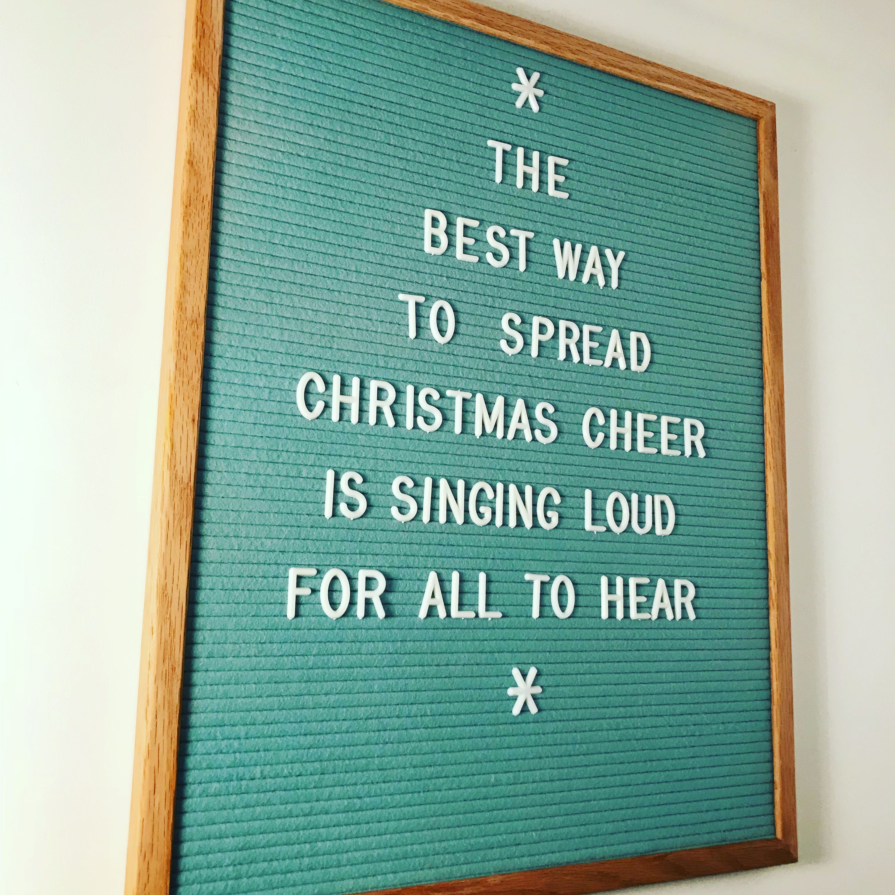 Christmas Letter Board Quotes Message board quotes