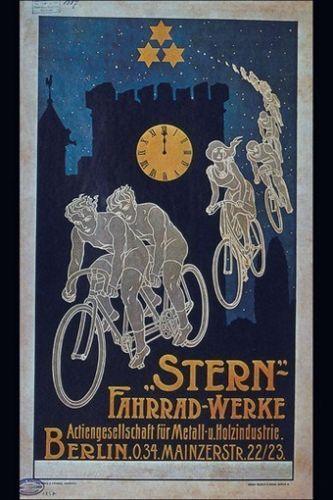 BICYCLE VINTAGE POSTER German ad RARE NEW ART PRINT