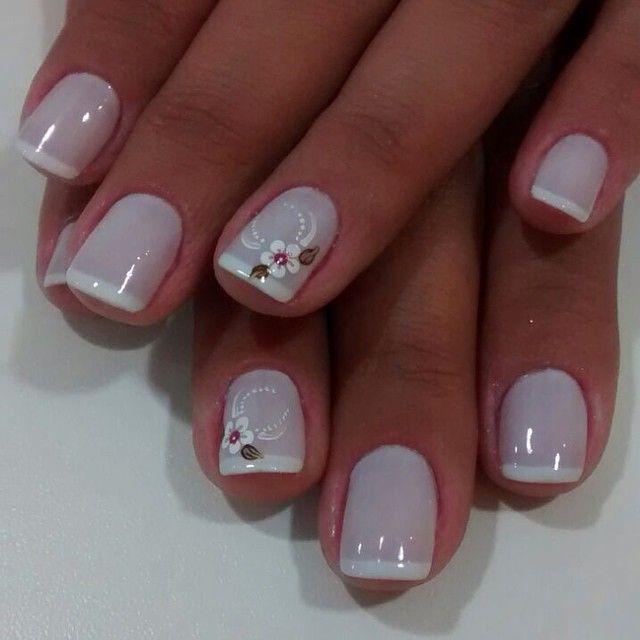 meninasdosalao @meninasdosalao #francesinha #lin...Instagram photo | Websta  (Webstagram) | Pretty nails, Nail art, Flower nails