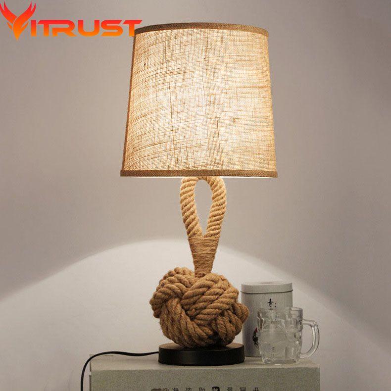 Vintage Table Light de mesa lamp Vintage mesaLamps Rope ...