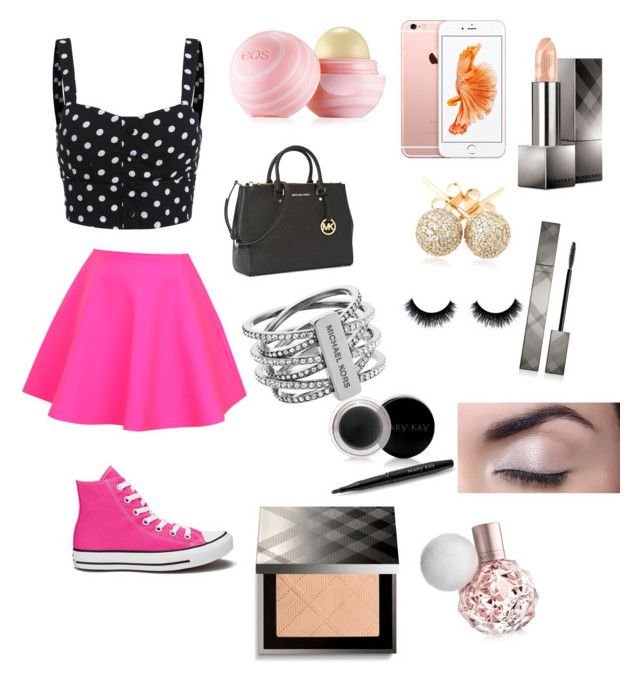 """""""Cute and casual #29"""" by fashionpolice101449 on Polyvore featuring UNIF, Converse, Eos, Michael Kors, Loushelou, Burberry and Mary Kay"""