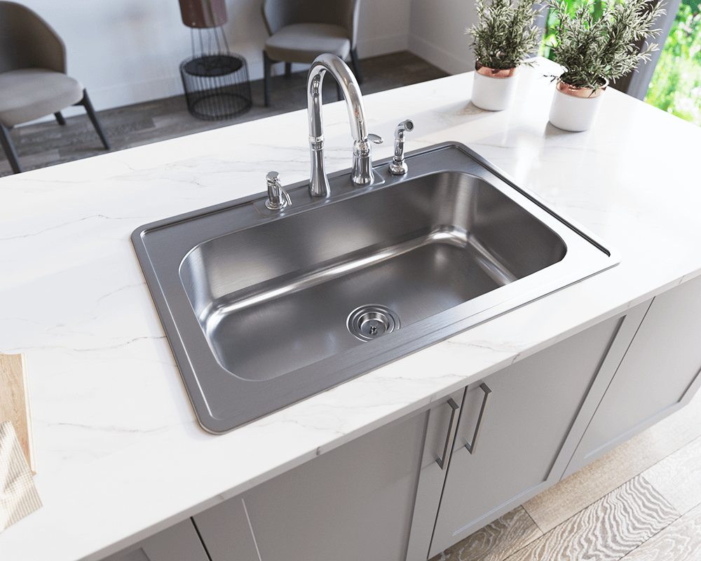 Us1030t Single Bowl Topmount Stainless Steel Sink With Images