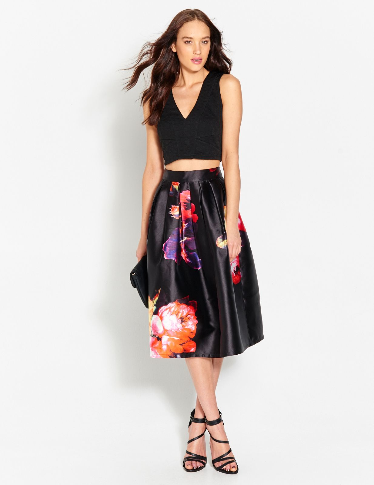 Jacquard Plunge Crop | Dotti #tops #formal #skirts | Fashion to ...