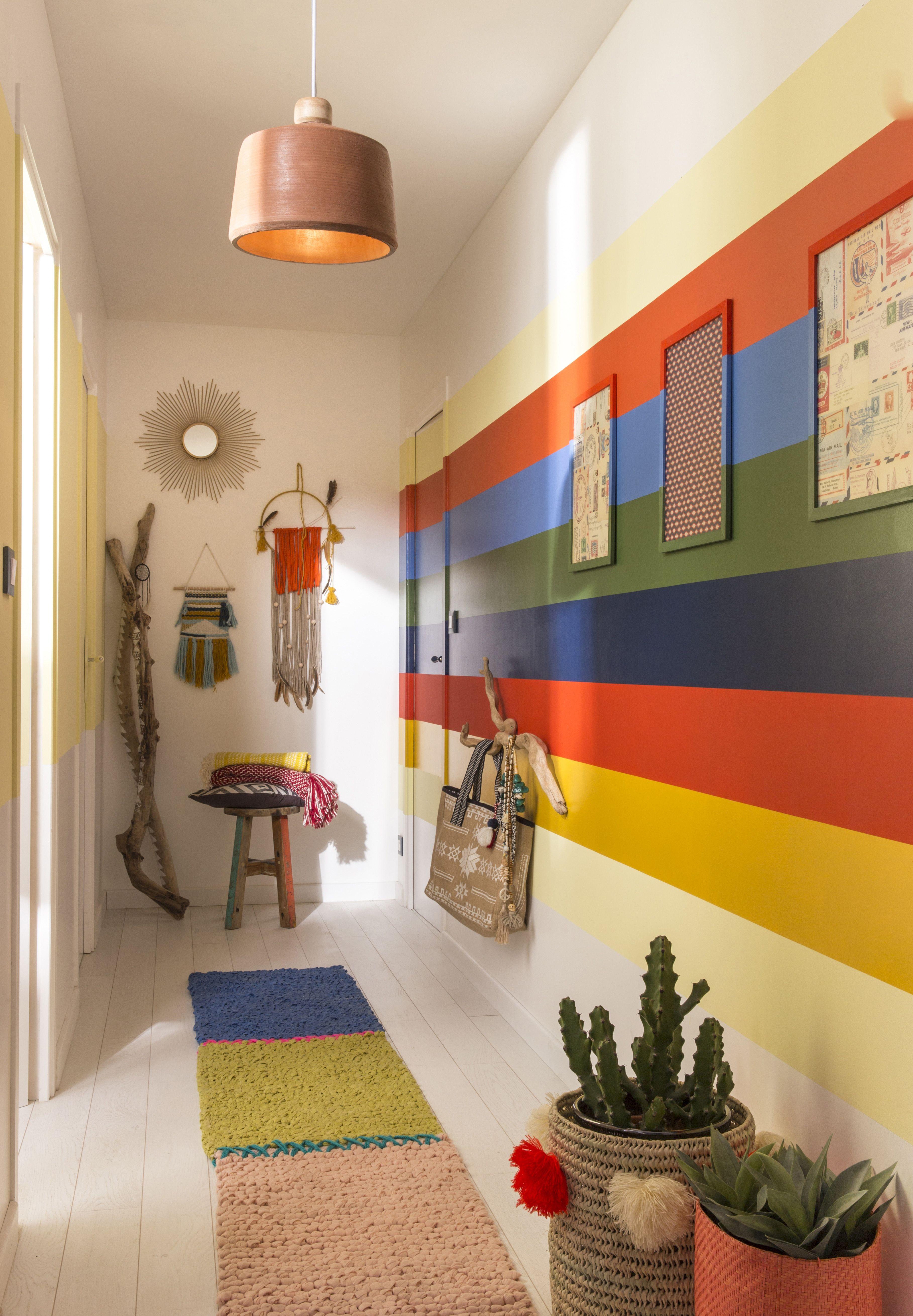 Comment Faire Des Rayures En Peinture Sur Un Mur votre #couloir est long et étroit ? profitez-en ! les