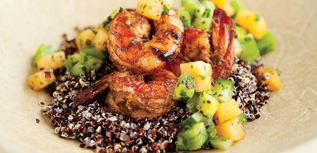 Jerk Shrimp with Melon and Kiwi Salsa Recipe |Dinner | alive #jerkshrimp
