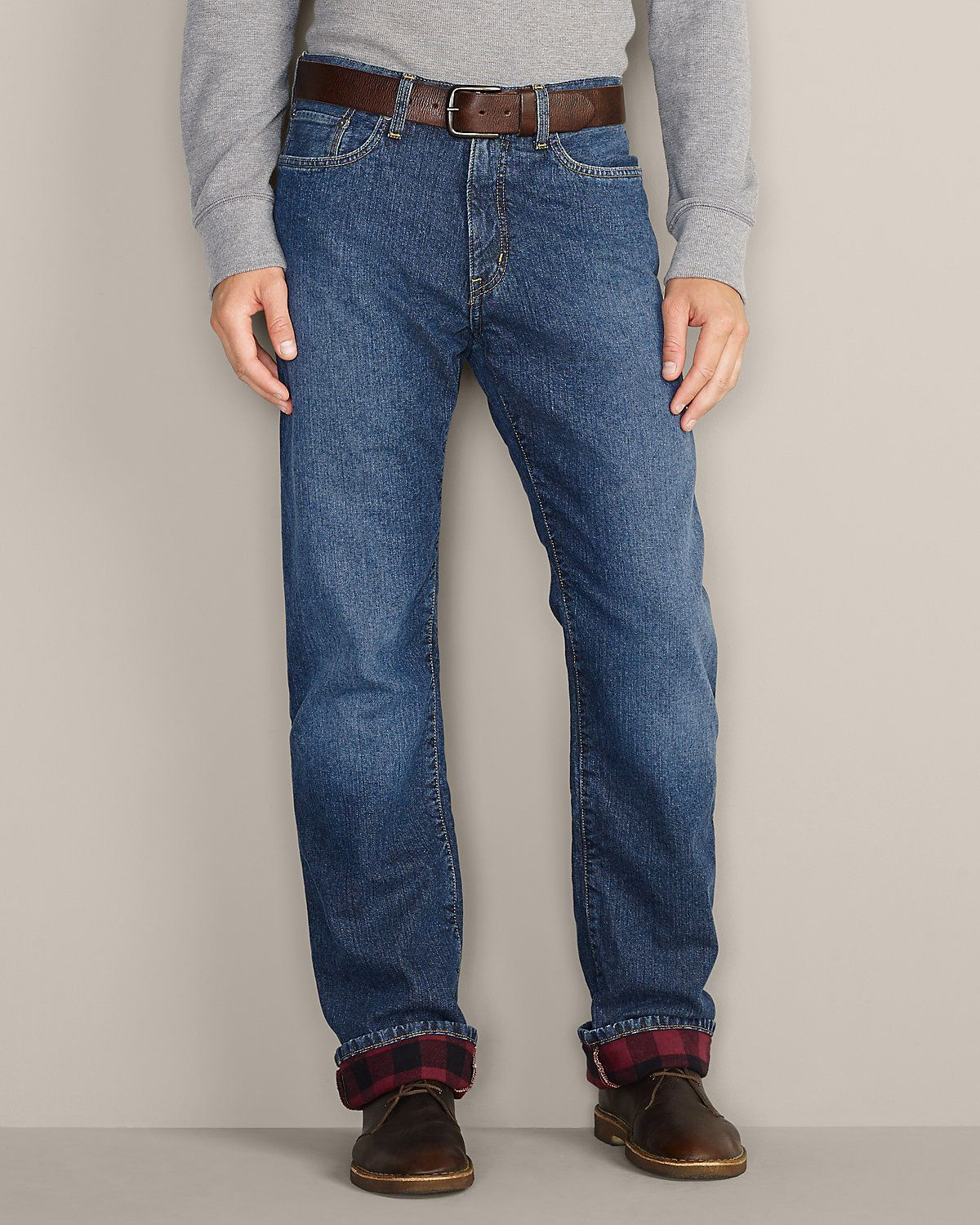 Flannellined Jeans Relaxed Fit Eddie Bauer Flannel