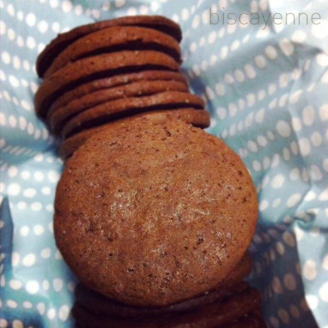 Biscayenne: Galletas de jengibre y cacao (adviento: día 1)