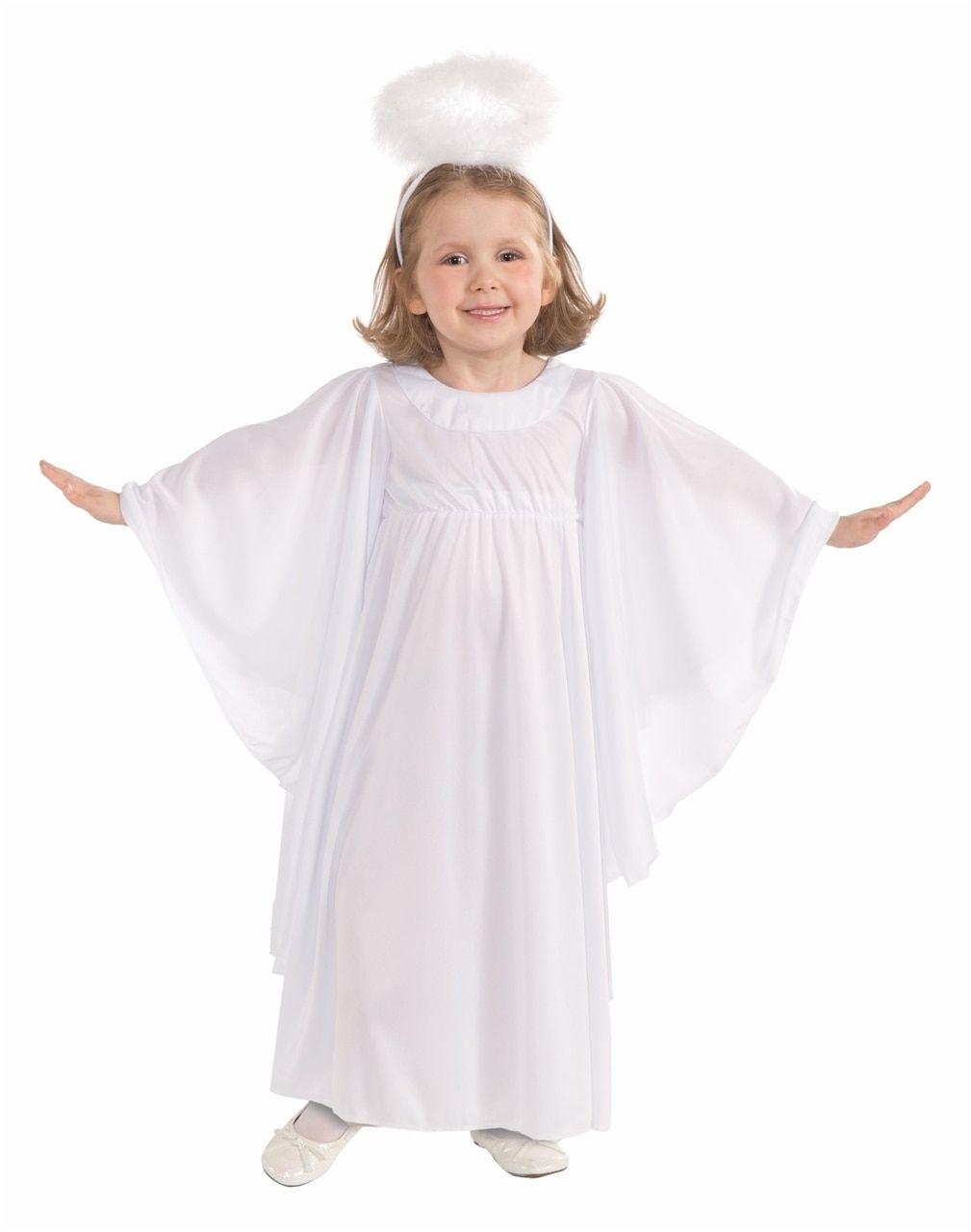 Toddler S Simple Angel Costume Angel Costume Diy Kids Angel Costume Girls Angel Costume