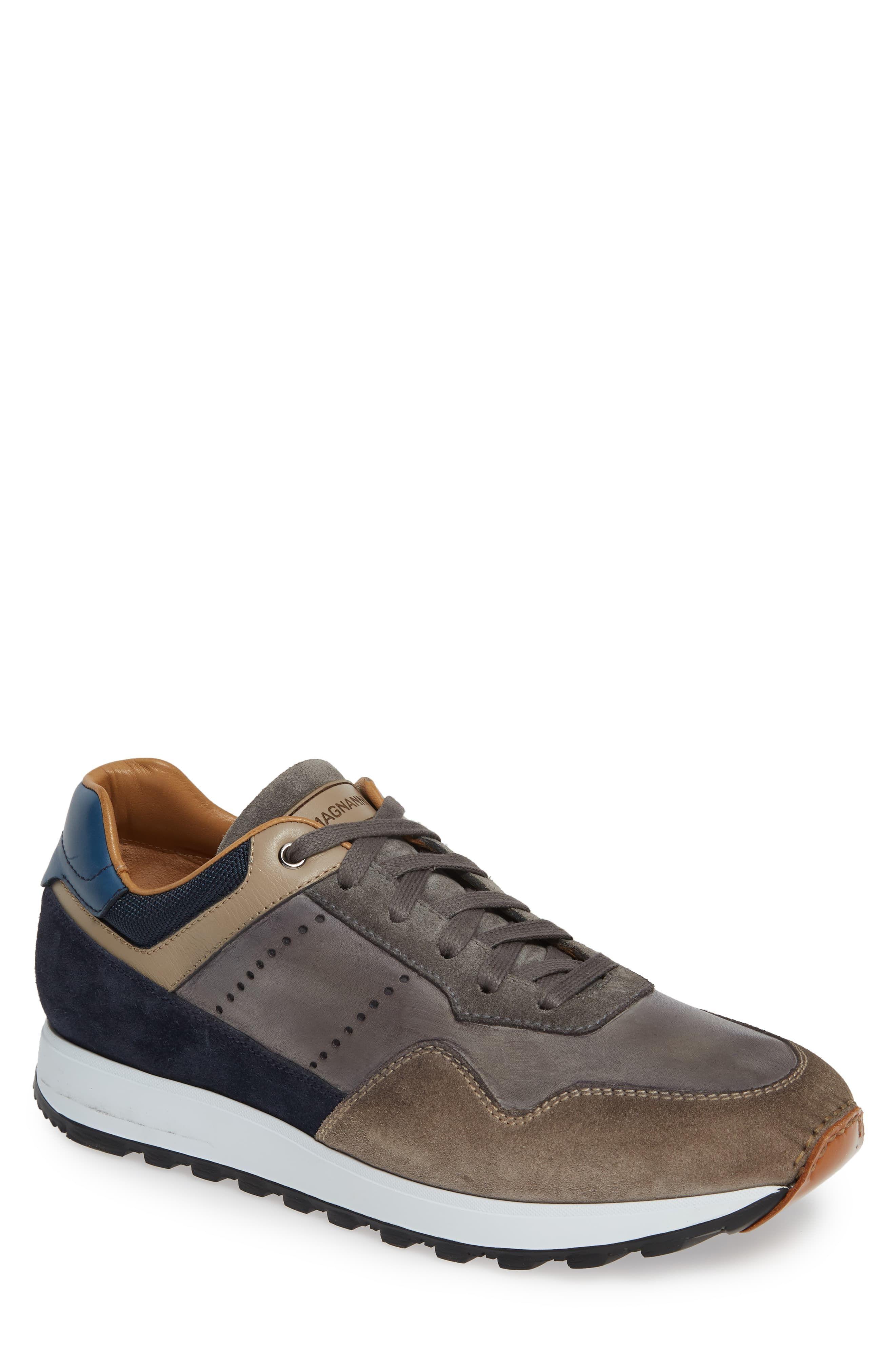 Mens Magnanni Varenna Sneaker, Size 11.5 M – Grey