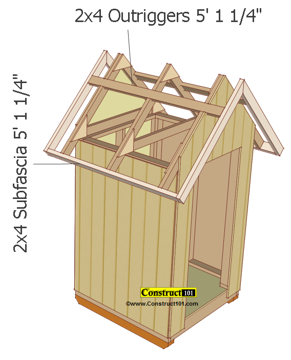 Small Shed Plans 4 X4 Gable Subfascia And Outrigger