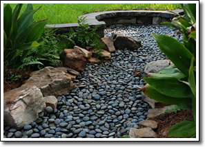 unbelievable dry creek bed landscaping ideas. landscaping a dry creek bed  Blue river rock sometimes hard to find Slate works