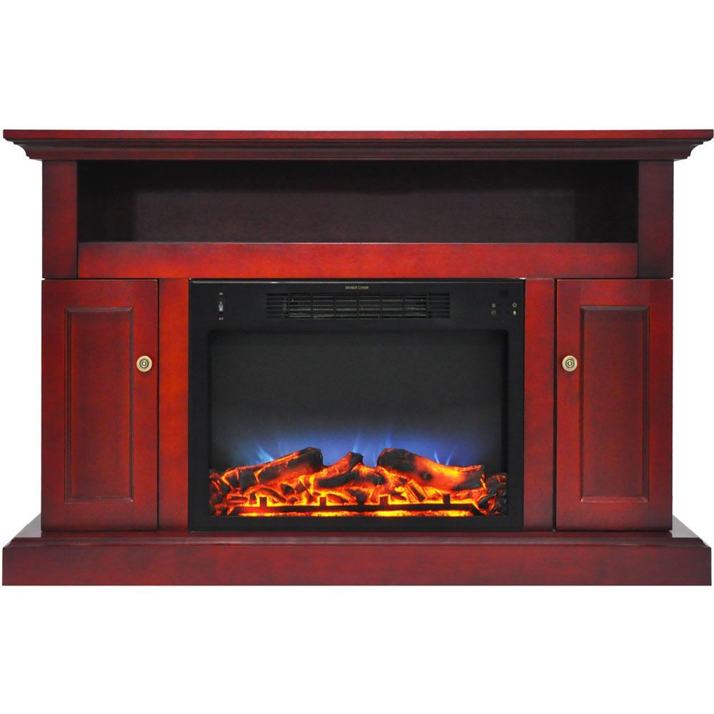 Cambridge Sanoma Electric Fireplace Heater With 72 Bookshelf