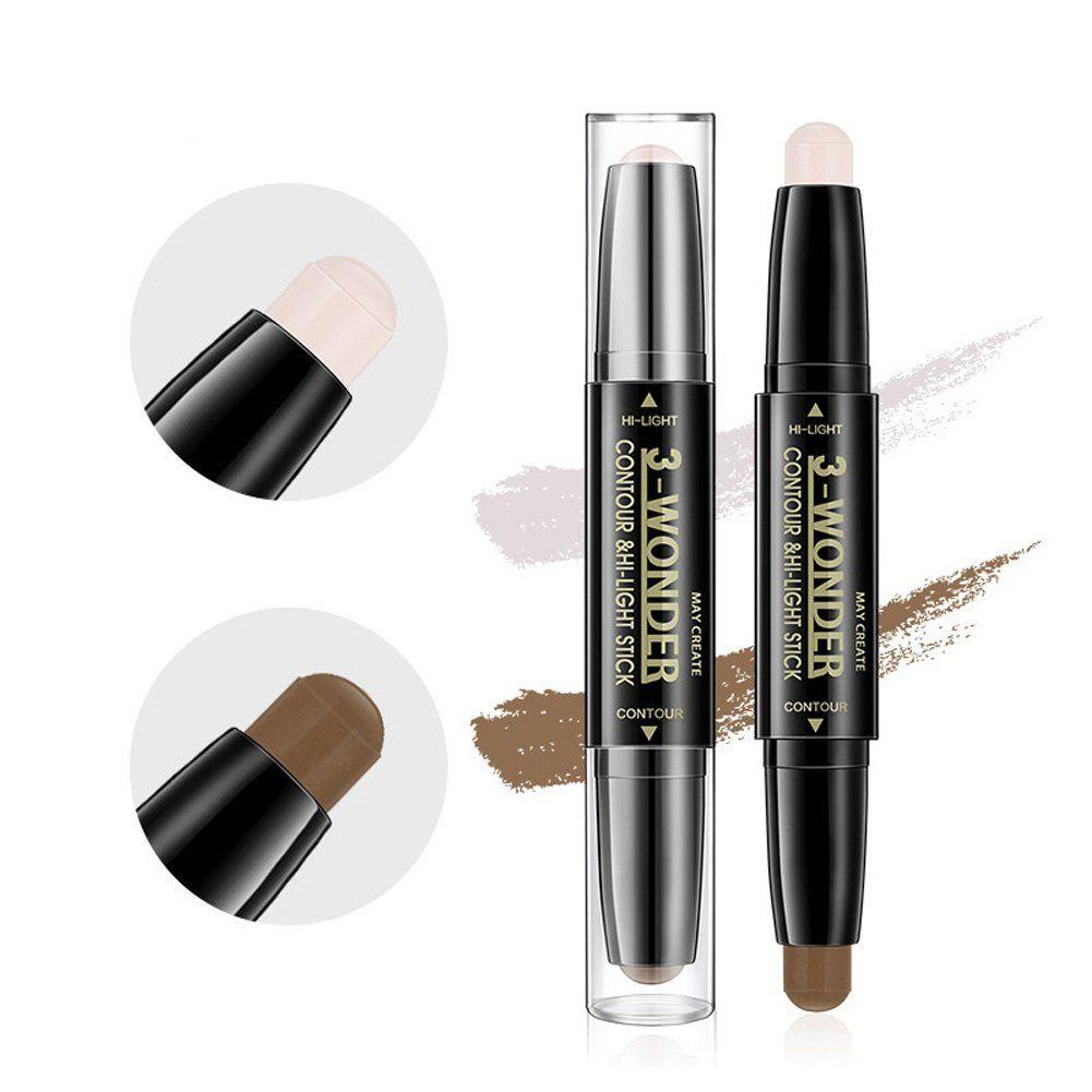 Scala 2pcs Set Double Head 2 Colors Comestic Contour Stick Pen Highlight Brightening Concealer Pe Face Makeup Concealer It Cosmetics Concealer Makeup Concealer