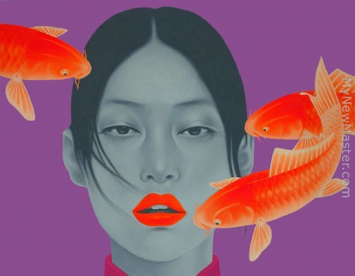 Chinese contemporary art gill fishes Chinese contemporary art gill fishes,