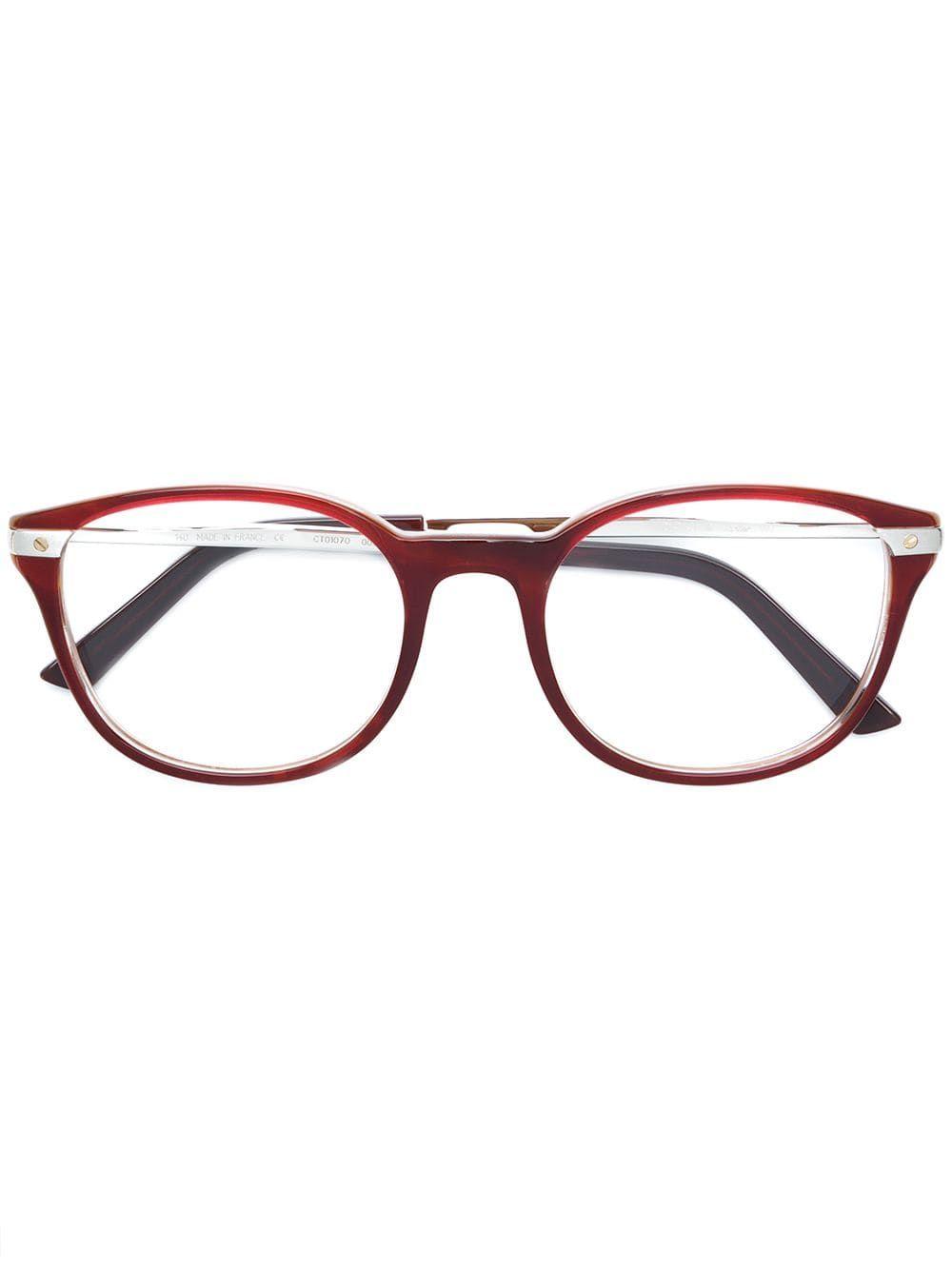 Cartier Eyewear Santos de Cartier glasses – Brown