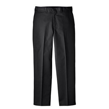 32/30 Black Genuine Dickies Men's Regular Fit Flat Front Comfort Waist Pant w/Multi-Use Pocket 7113738