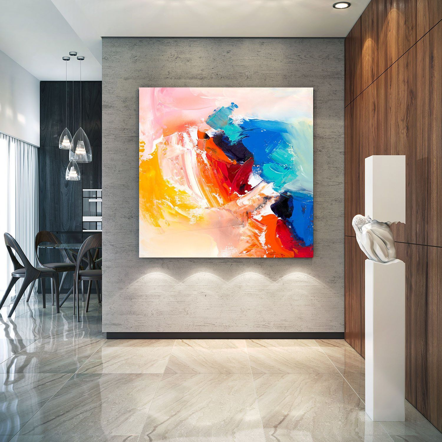 Abstract Painting Original Canvas Art