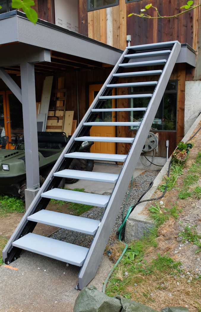 Best Outdoor Stair Stringers By Fast Stairs Com Exterior 400 x 300