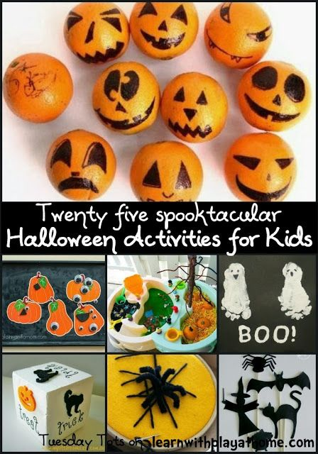 25 Halloween Activities for Kids   Activities, Plays and Learning