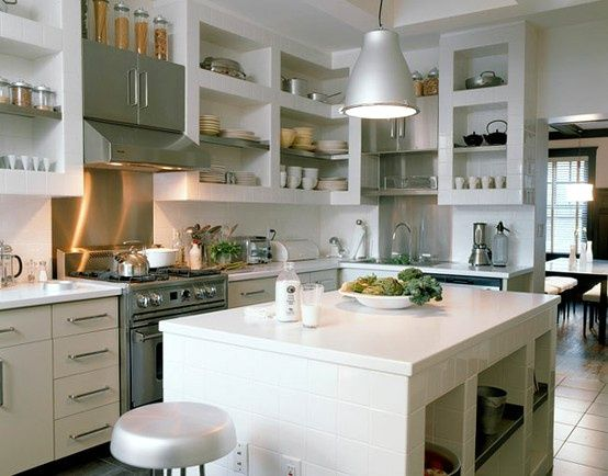 open shelving in kitchens...