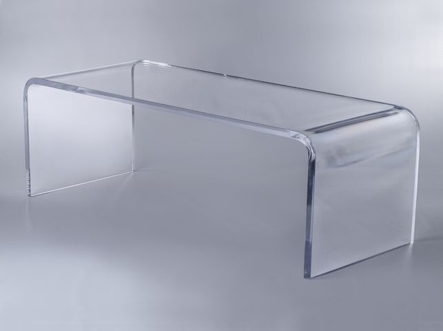 Waterfall Coffee Table Acrylic Furniture Coffee End Tables