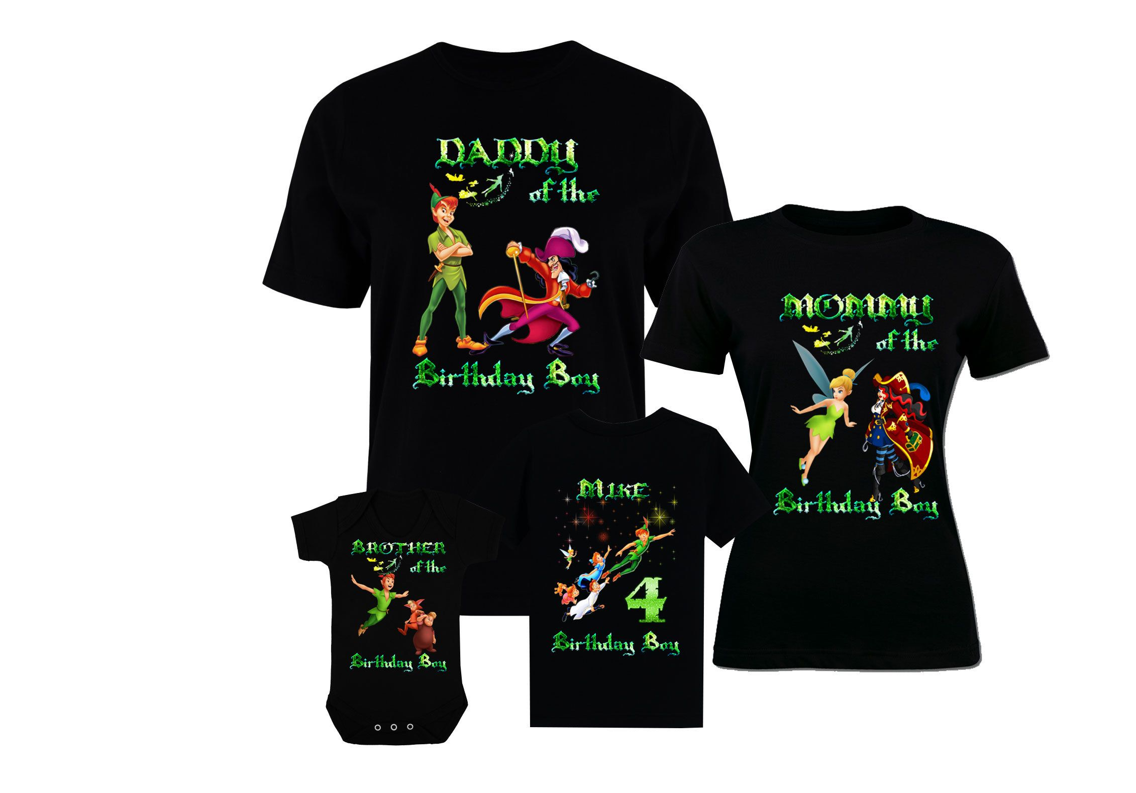 3287b6459 Birthday Family Peter Pan Shirts Petar Pan T-Shirt Peter Pan Shirts Peter  Pan Captain Hook Tinker Bell Wendy Darling Mr Smee Tiger Lily by ...