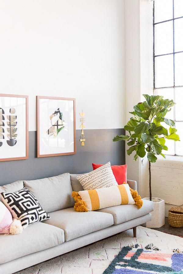Freshening up  neutral spot over the sofa with new artwork from artdotcom ad loveyourwall interiorsinspiration interiors modernvibes coolartwork also wall crawl picking right art for your home and making sure it rh pinterest