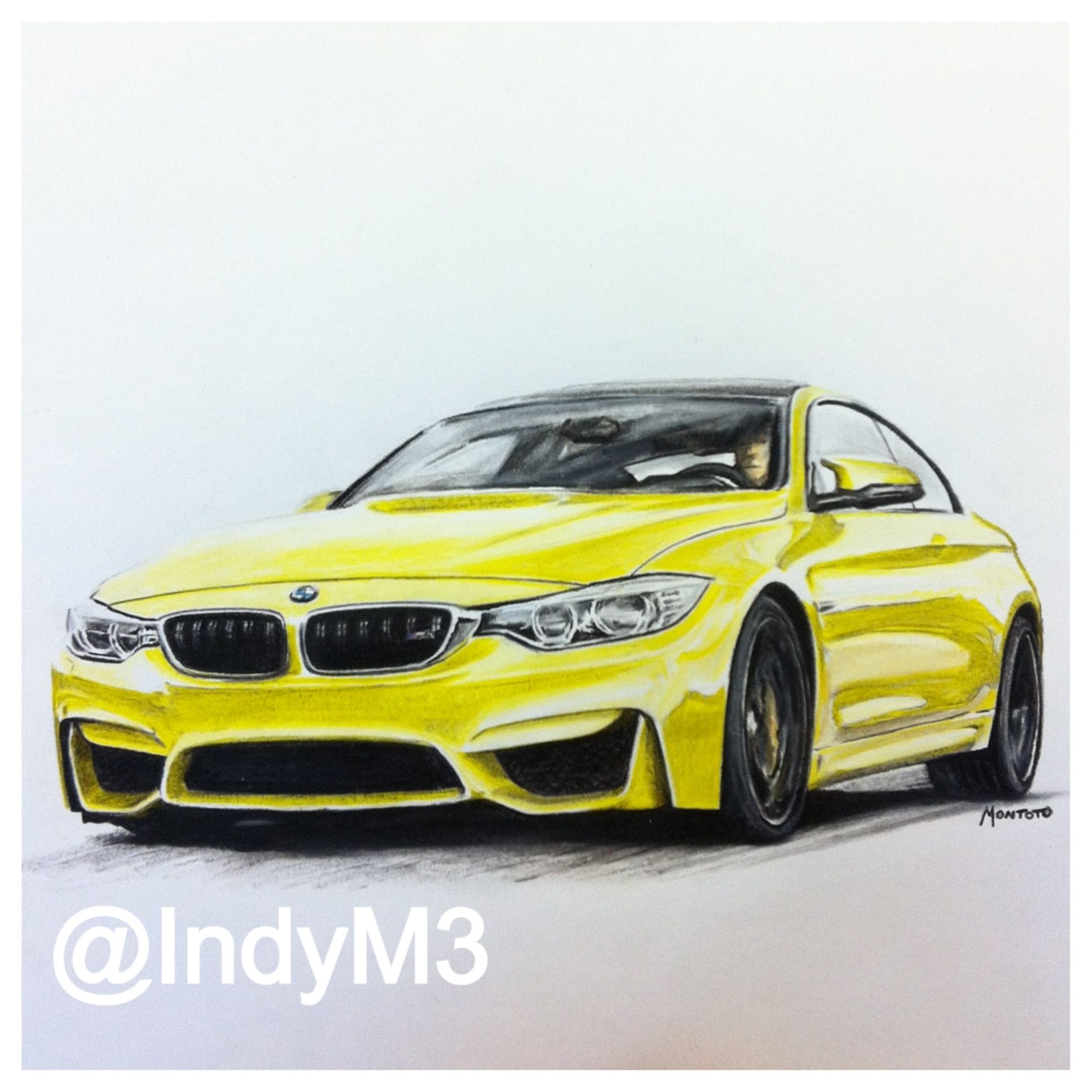 Bmw M4: BMW M4 Drawing Email : Indy.montoto@hotmail.com