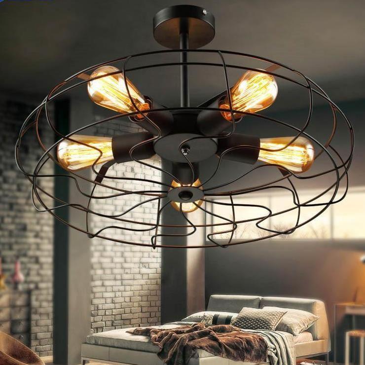 Retro Fan Pendant Lamp Fo Industrial Loft Vintage Style Metal Ceiling Light Metal Ceiling Lighting Industrial Light Fixtures Vintage Industrial Lighting