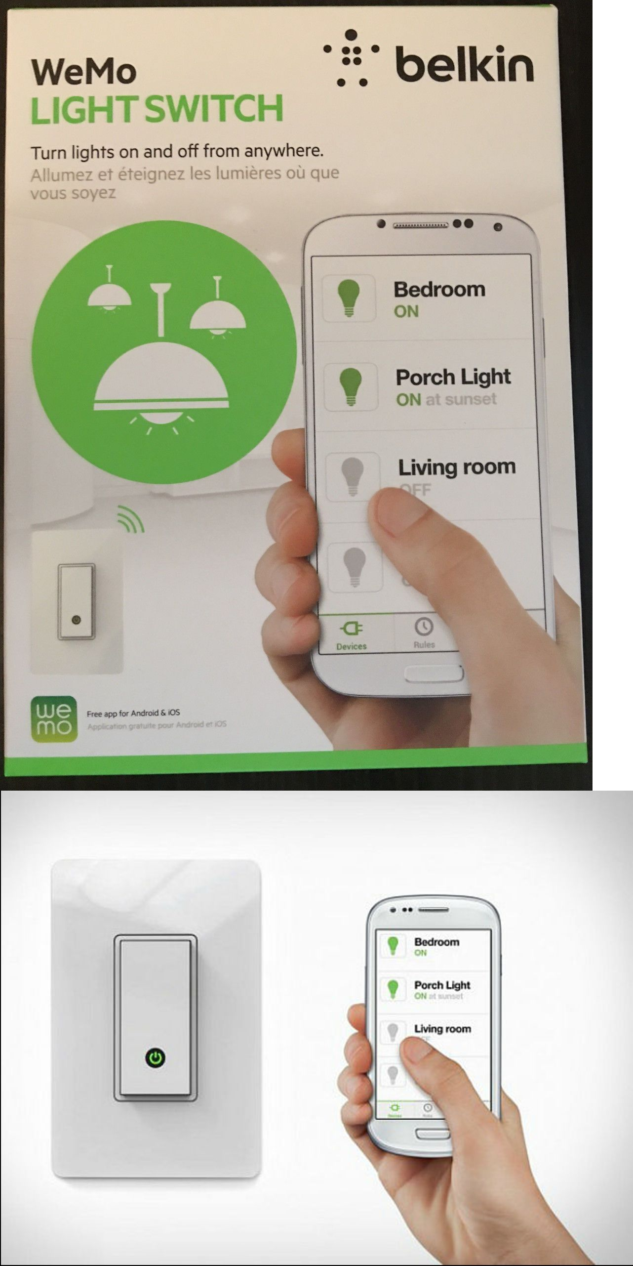 Home Automation Modules: Belkin Wemo Light Switch Smart Home Wifi ...