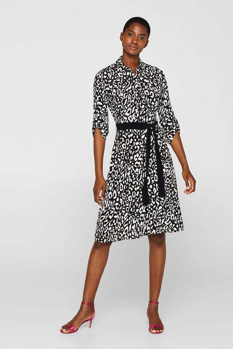 Esprit - Hemdblusen-Kleid mit Turn-up-Ärmeln im Online ...