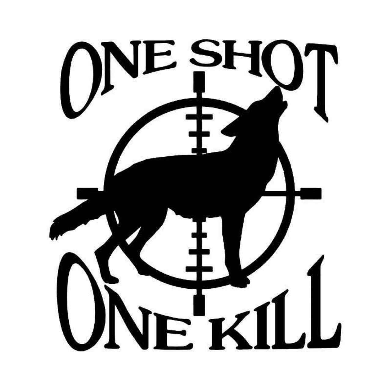 Sniper Crosshairs Wolf Kill Hunting Vinyl Decal Sticker