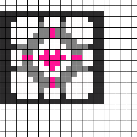 portal companion cube perler bead pattern bead sprites misc portal companion cube perler bead pattern bead sprites misc fuse bead patterns