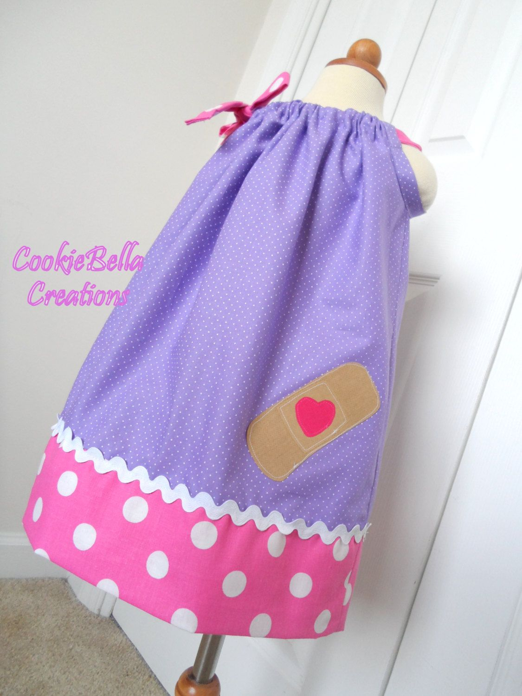 Doc McStuffins Inspired Purple Polka Dot Pillowcase Dress | Doctora ...