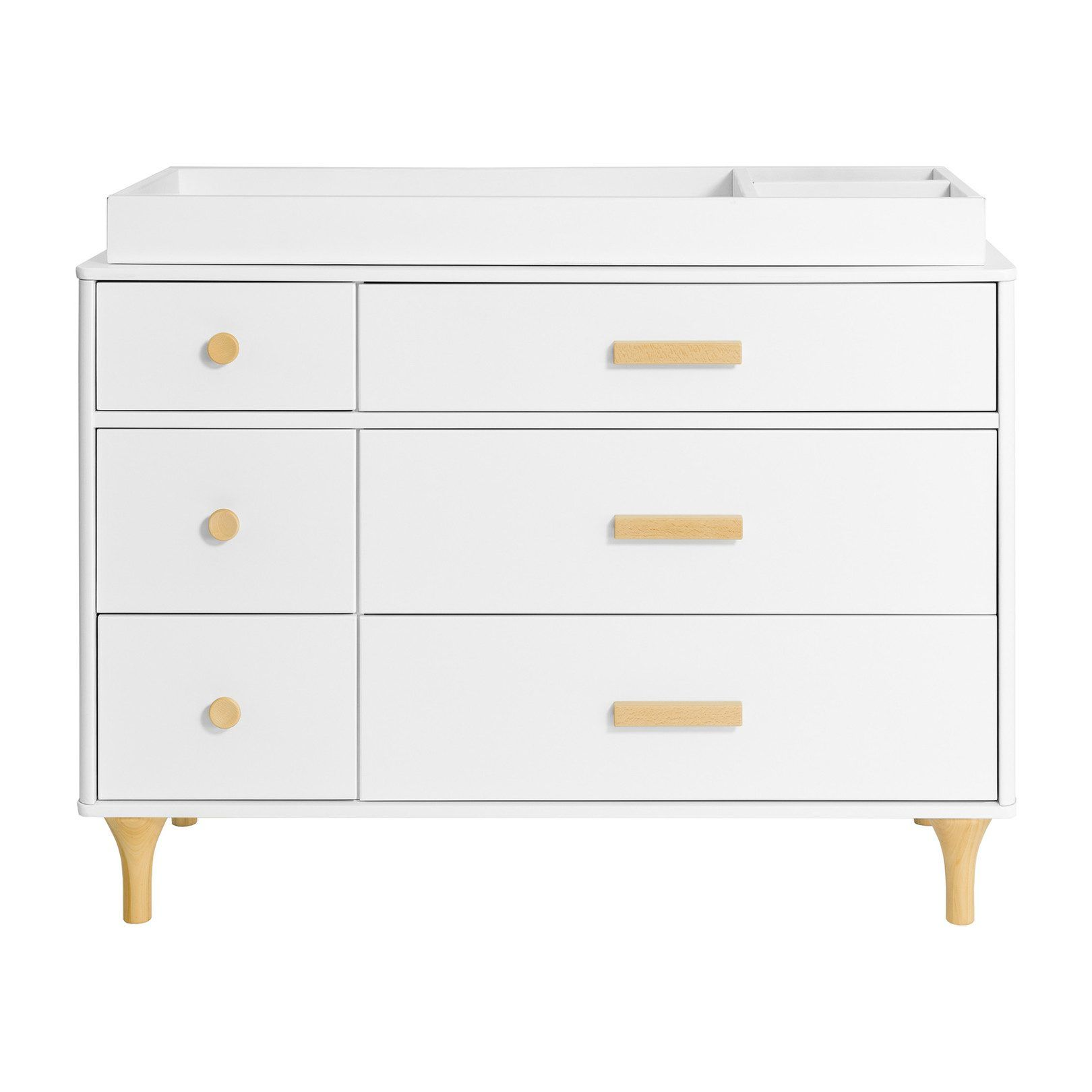 Best Babyletto Lolly 6 Drawer Assembled Double Dresser White 640 x 480