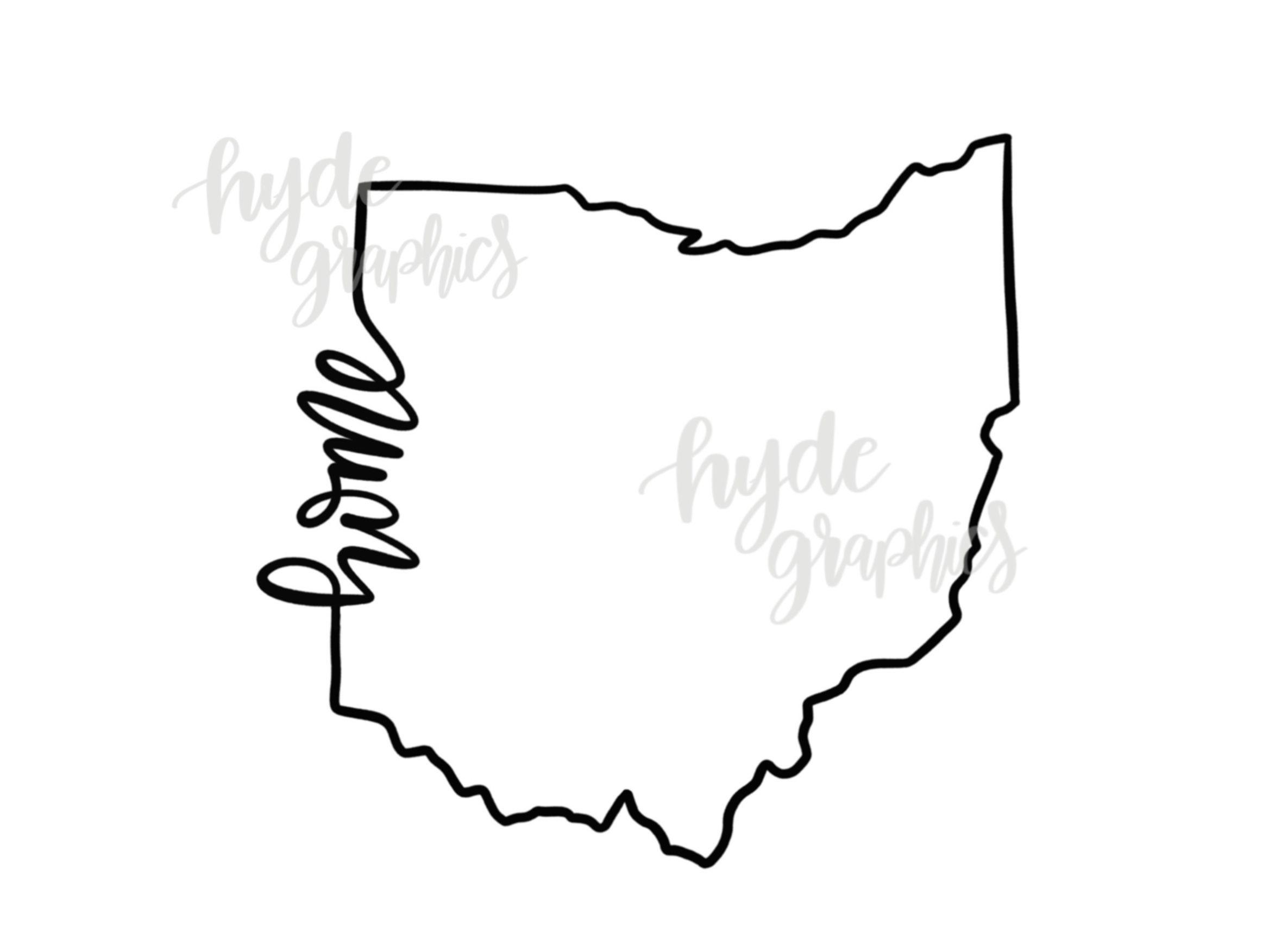 Ohio Home Outline Svg File Ohio Outline Svg Design Ohio Svg Vinyl Designs Png File Ohio Outline Svg Ohio