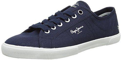 Pepe Jeans London ABERMAN BASIC, Herren Sneakers, Blau (580SAILOR), 46 EU - http://autowerkzeugekaufen.de/pepe-jeans/pepe-jeans-london-aberman-basic-herren-sneakers-3