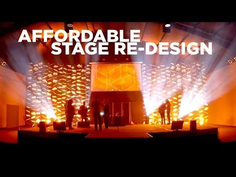 Affordable Church Stage Re Design Worship Leader Hangout