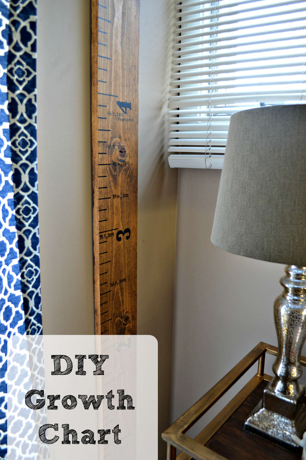 Diy giant ruler growth chart simple quick and inexpensive at