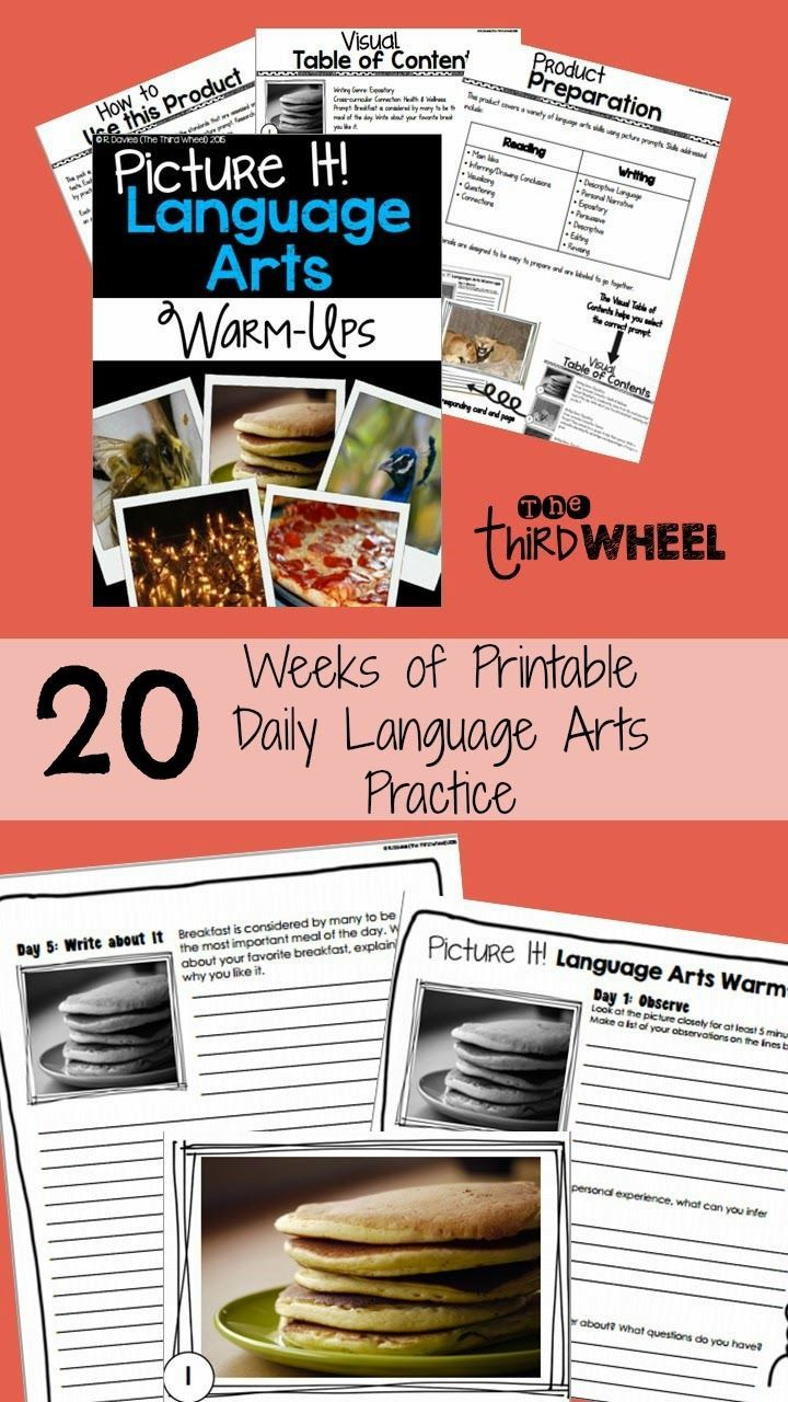 20 weeks of picture based reading and writing practice for daily warm-ups. Includes practice with main idea and details, inferring, connecting, and writing for multiple purposes. Great for struggling readers to continue building reading comprehension skills while they work on fluency and decoding.
