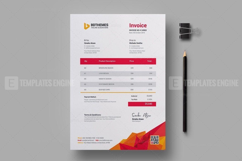 Education Invoice Design Template 036 5 99 Https Templatesengine Com Image Education Invoice D In 2020 Invoice Design Template Invoice Design Print Design Template