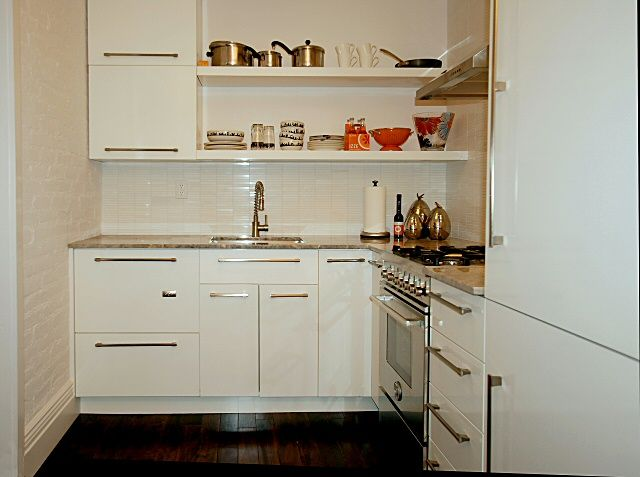 White Euro Style Cabinets