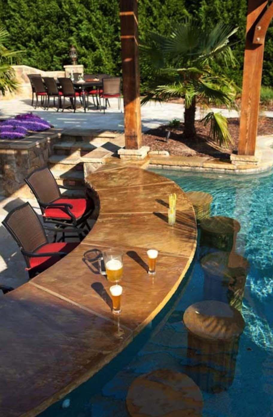 33 Mega Impressive Swim Up Pool Bars Built For