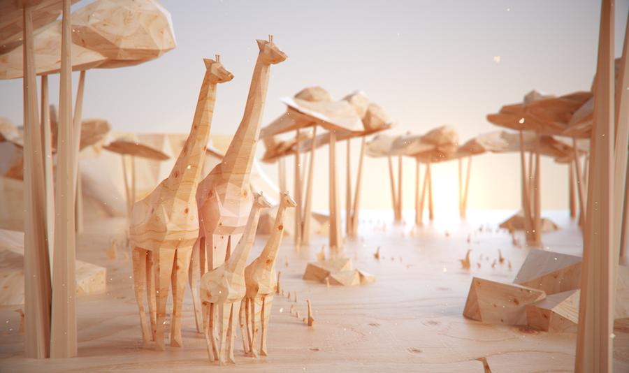 3D Virtual Carved Wildlife