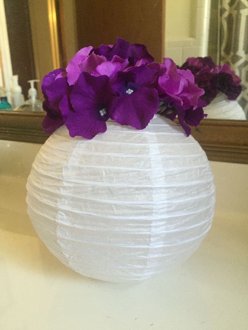 Flowers + paper lantern + LED light = my centerpieces | I Do ...