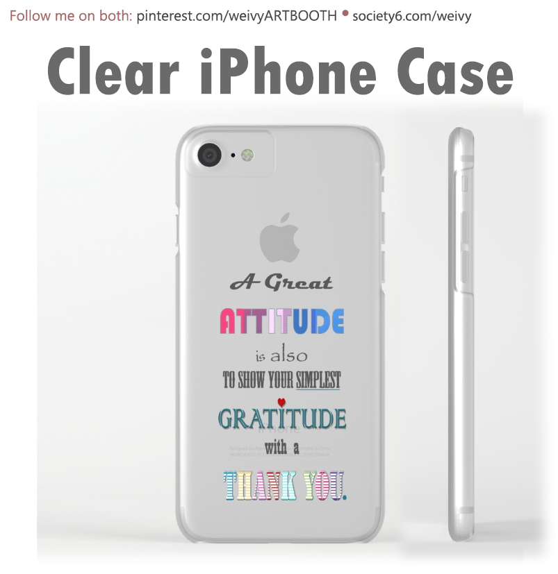 iPhone 6 & 7 clear case. Visit WeIvy's Art BootH to