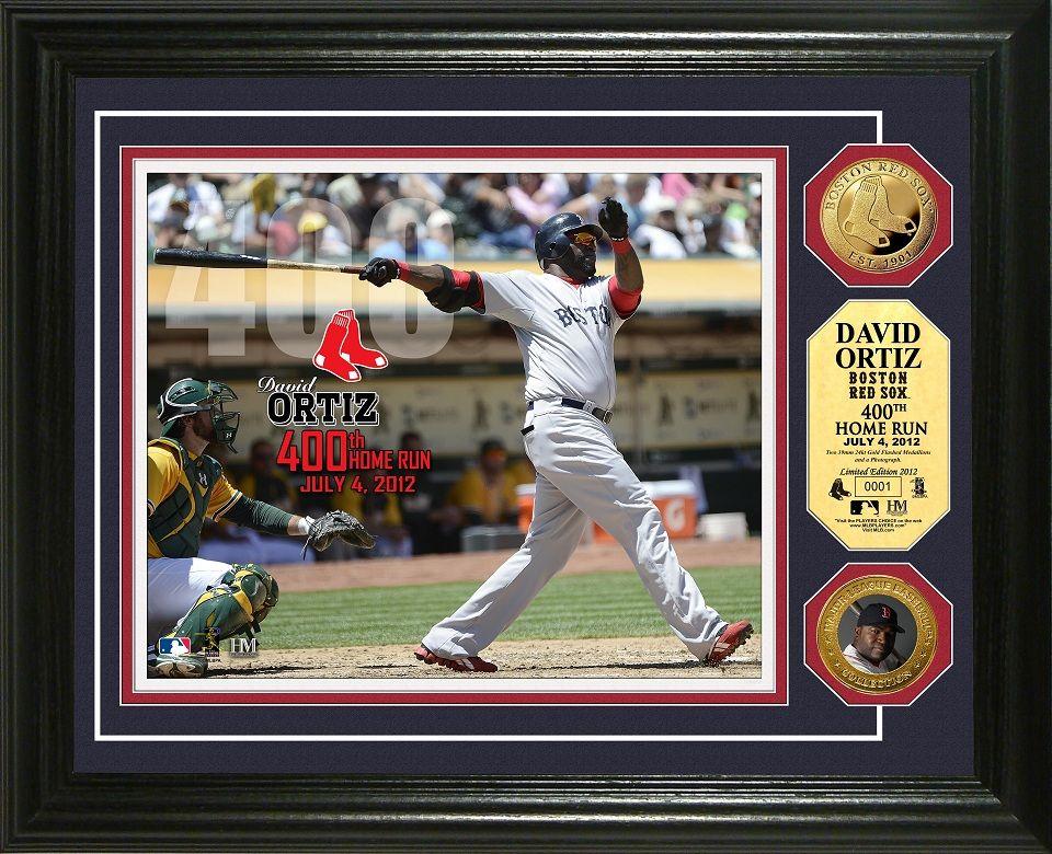 """AAA Sports Memorabilia LLC David Ortiz """"400th Home Run"""