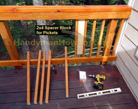 How To Build Code Compliant Deck Railing Part 2 Building A Deck Deck Railings Deck Installation