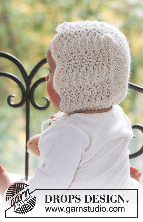 Poppy\'s Bonnet / DROPS Baby 18-12 - Gorrito de punto con patrón de ...